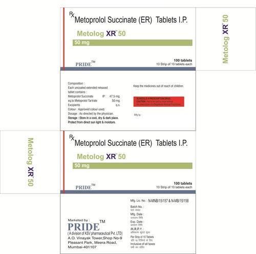 Metolog Xr 50 ( Metoprolol Succinate)