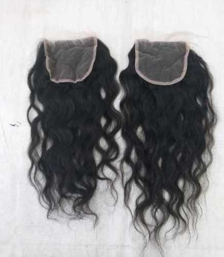 Transparent Swiss Curly Lace Closure 4x4