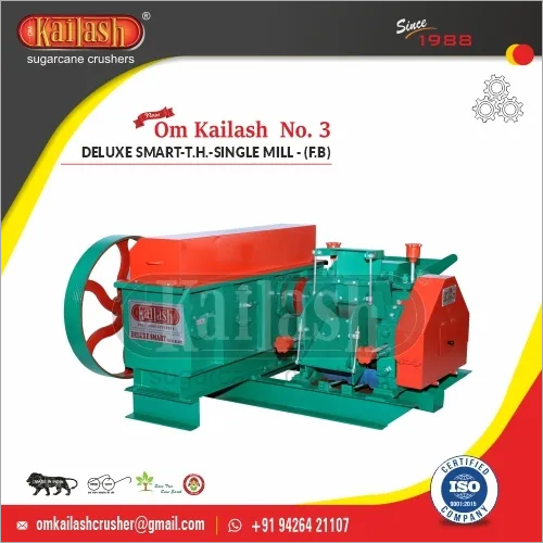 Jaggery Machinery Sugarcane Crusher For Jaggery Making 30 TCD Om Kailash No. 3 Deluxe Smart - T.H - Single Mill - (F.B)