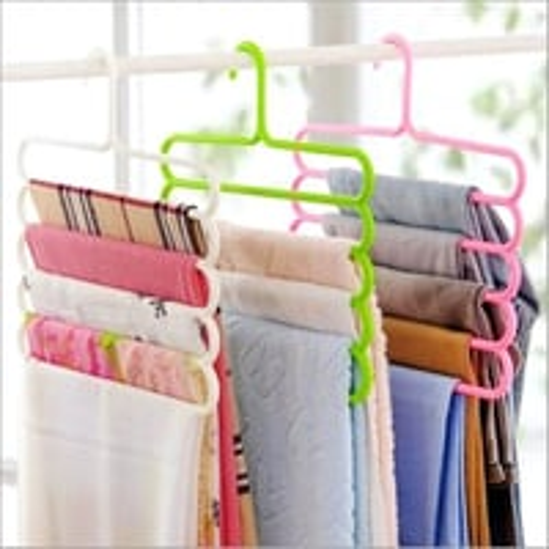 Plastic 5 Layers Trouser Hanger