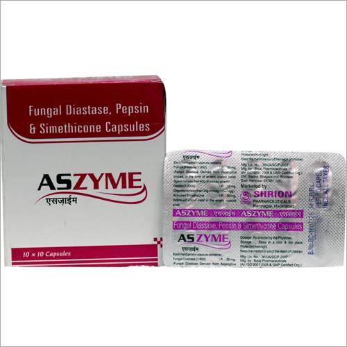Fungal Diastase Pepsin and Simethicone Capsules
