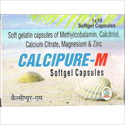 Soft Gelatin Capsules of Methylcobalamin Calcitriol Calcium Citrate Magnesium and Zinc