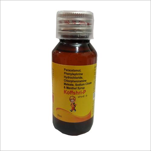 Paracetamol Phenylephrine Hydrochloride Chlorpheniramine Maleate Sodium Citrate and Menthol Syrup