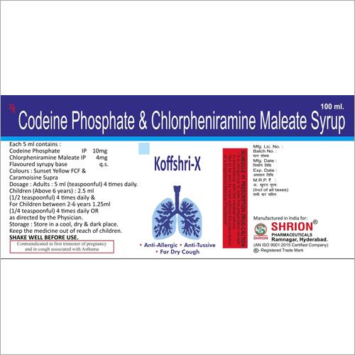 Codeine Phosphate and Chlorpheniramine Maleate Syrup