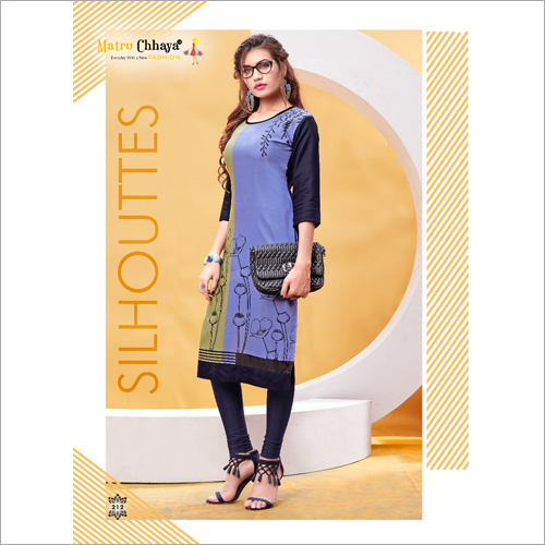 Ladies Casual Wear Printed Kurti