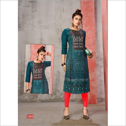 Ladies Designer Straight Kurti