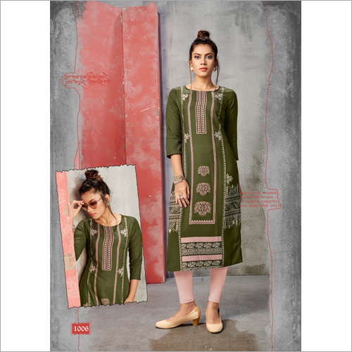 Ladies Fancy Straight Kurti