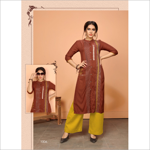 Ladies Party Wear Straight Kurti