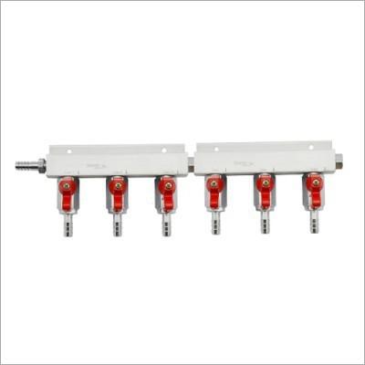 6 Way Gas Distributor With 60 PSI PRV