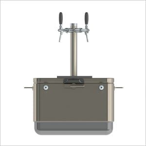 Steel Belted Jockey Box With 2 Tap Beer Tower