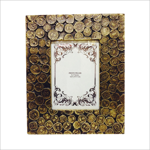 Wooden Photo Frame With Brass Work