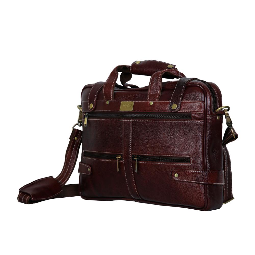MYBAE Executive Leather Laptop Bag