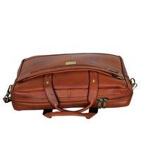 MYBAE Brown leather Laptop Bag