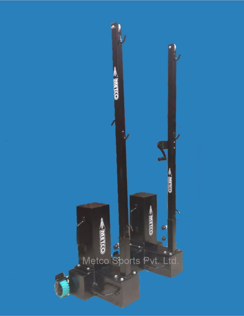 Badminton Pole Movable Black
