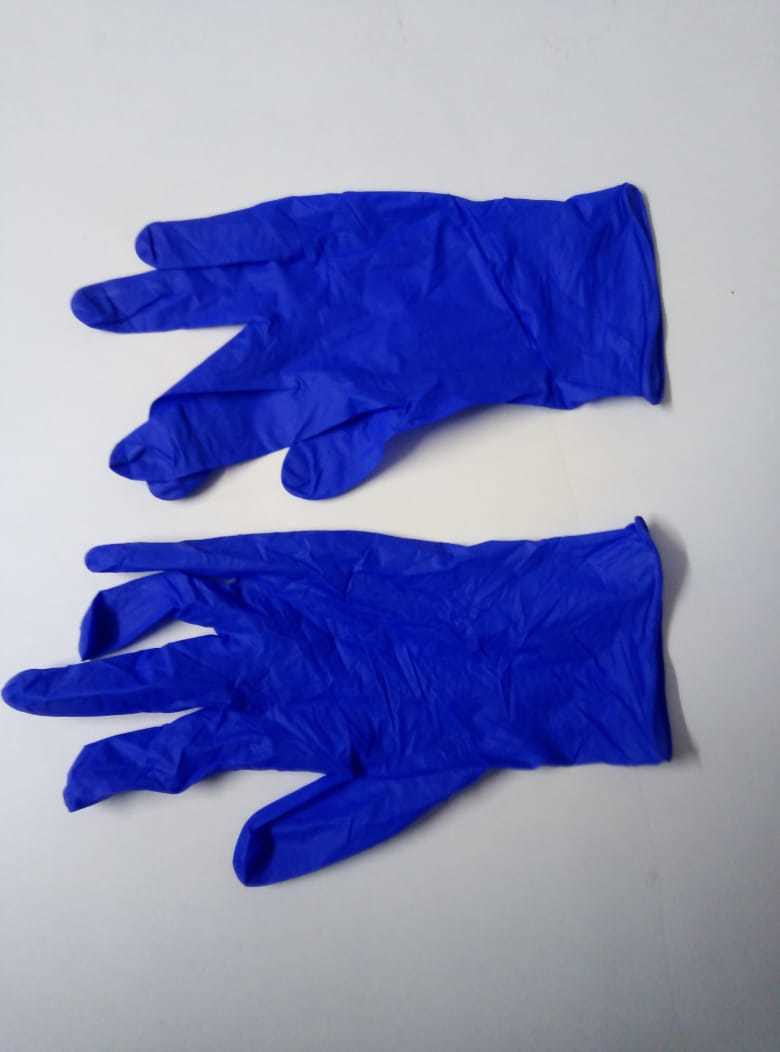 NITRILE BLUE SURGICAL HAND GLOVES