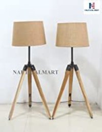 Urban Design Weathered Wooden Tripod Table Lamps (Set of 2)