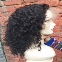 Unprocessed Curly Human  Hair Wig