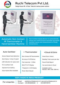 Automatic IR Thermometer And Hand Sanitizer Machine