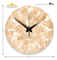 Marble Wood Wall Clock