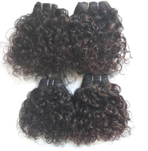 Human Hair Bundles Deep Curly Virgin Hair Hair Weft