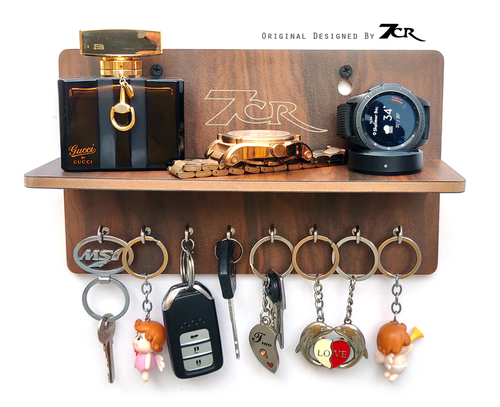 8 hook key holder with shelf
