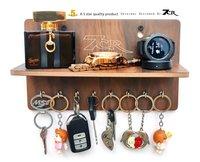 8 hook key holder with shelf