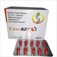 Calcium Citrate Maleate Vit K2-7 Calcitriol Methylcobalamin Magnesium and Zinc Softgel Capsules