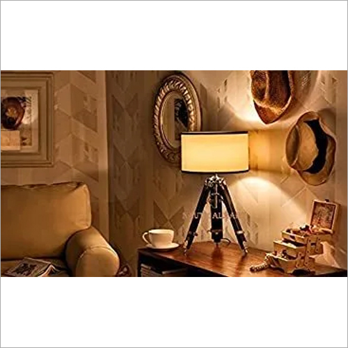 DESIGNER TABLE LAMP STAND WOODEN TRIPOD STAND BY NAUTICALMART