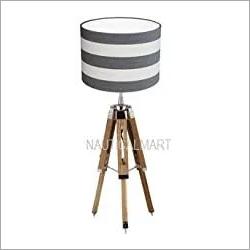 NAUTICALMART Classical Designer Chrome Finish Tripod Table LAMP Stand.