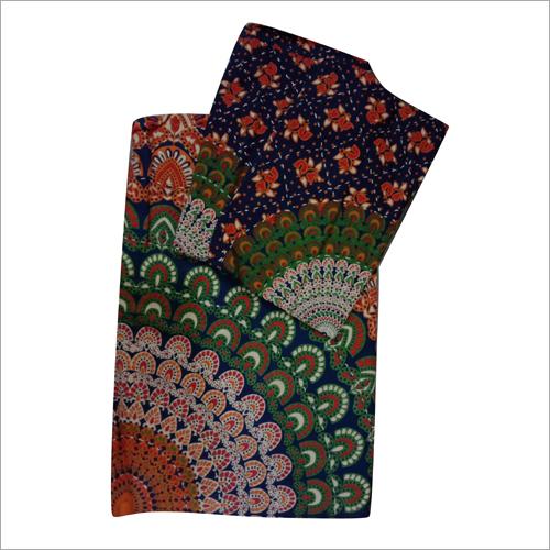Multicolor Jaipuri Print Indigo Bed Sheet