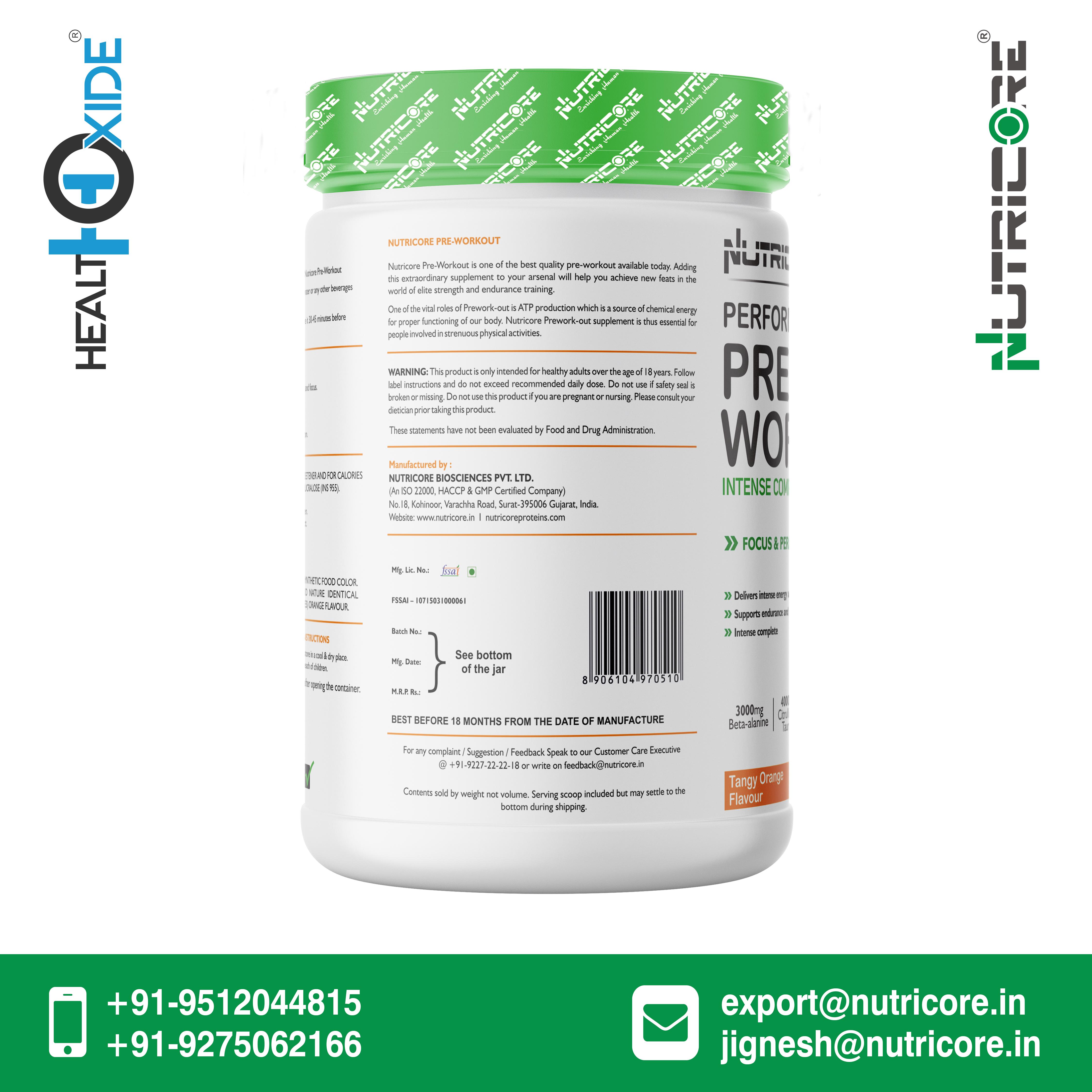 240 Gm Tangy Orange Flavour Pre-Workout Powder