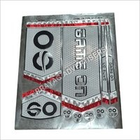 Foil Screen Embossed Cricket Bat Sticker