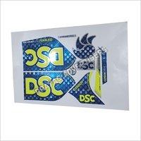 Foil Digital 3D Cricket Bat Sticker