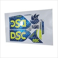 Foil Digital 3D Cricket Bat Sticker