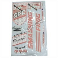 Digital Matt Embossing Cricket Bat Sticker