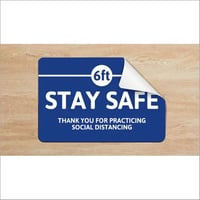 Customized Social Distancing Sticker With Anti Skid Lamination