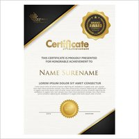 Texture Certificate Printing Services