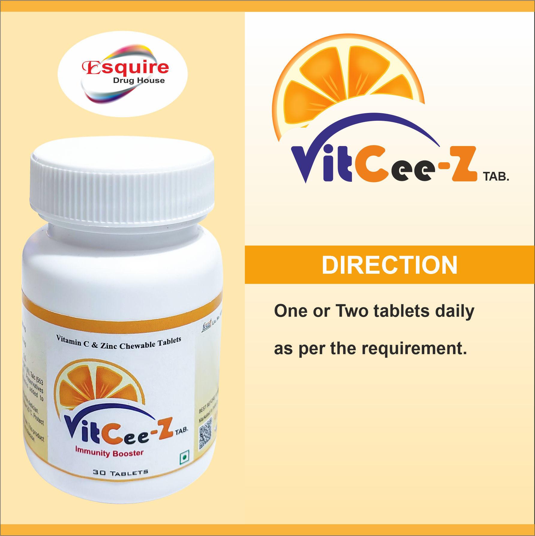 Vitamin C (As Ascorbic Acid) 500 mg + Zinc Sulphate (Elemental Zinc 11mg) 27.13 mg