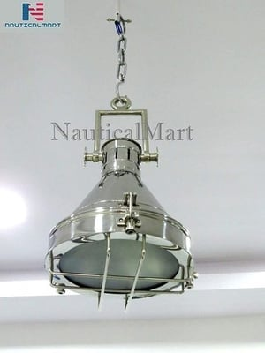 NauticalMart Pendant Lamp Grill Ceiling Light Industrial Hanging Lighting