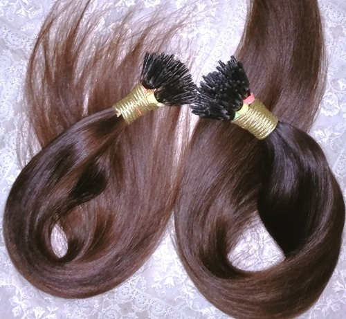 Top quality Indian straight I tip Human Hair Extensions