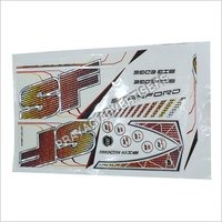 Spot UV Cricket Bat Sticker