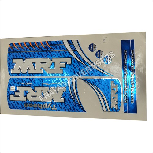Basic Foil Cricket Bat Sticker