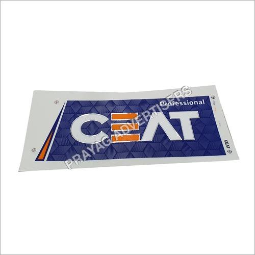 PC Sparkle White Matt 3D Cricket Bat Sticker