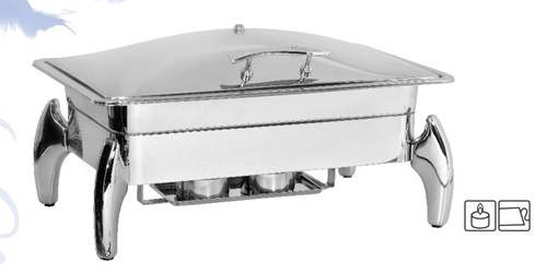 Chafing Dish Lift Top Rect. 9 ltr. Tiger Stand
