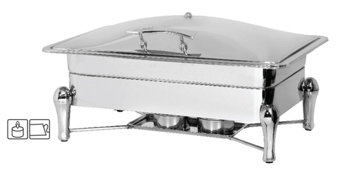 Chafing Dish Lift Top Rectangle 9 Ltr. Sleek Stand - Rs. 5880.00++