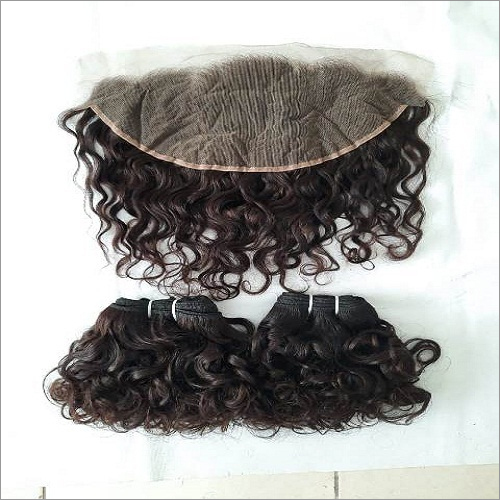 Deep wave HD lace frontal human hair