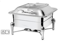 Chafing Dish Square Hydraulic Glass Lid 6.5 Ltr, Sleek Stand - Rs. 7320.00++