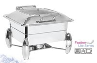 Chafing Dish Square with Glass Lid 6.5 ltr. with Diamond Stand