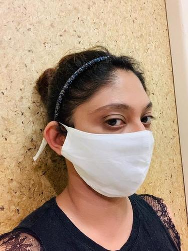 Reusable Cotton Face Mask with Adjustable Ear Loop 3 layer