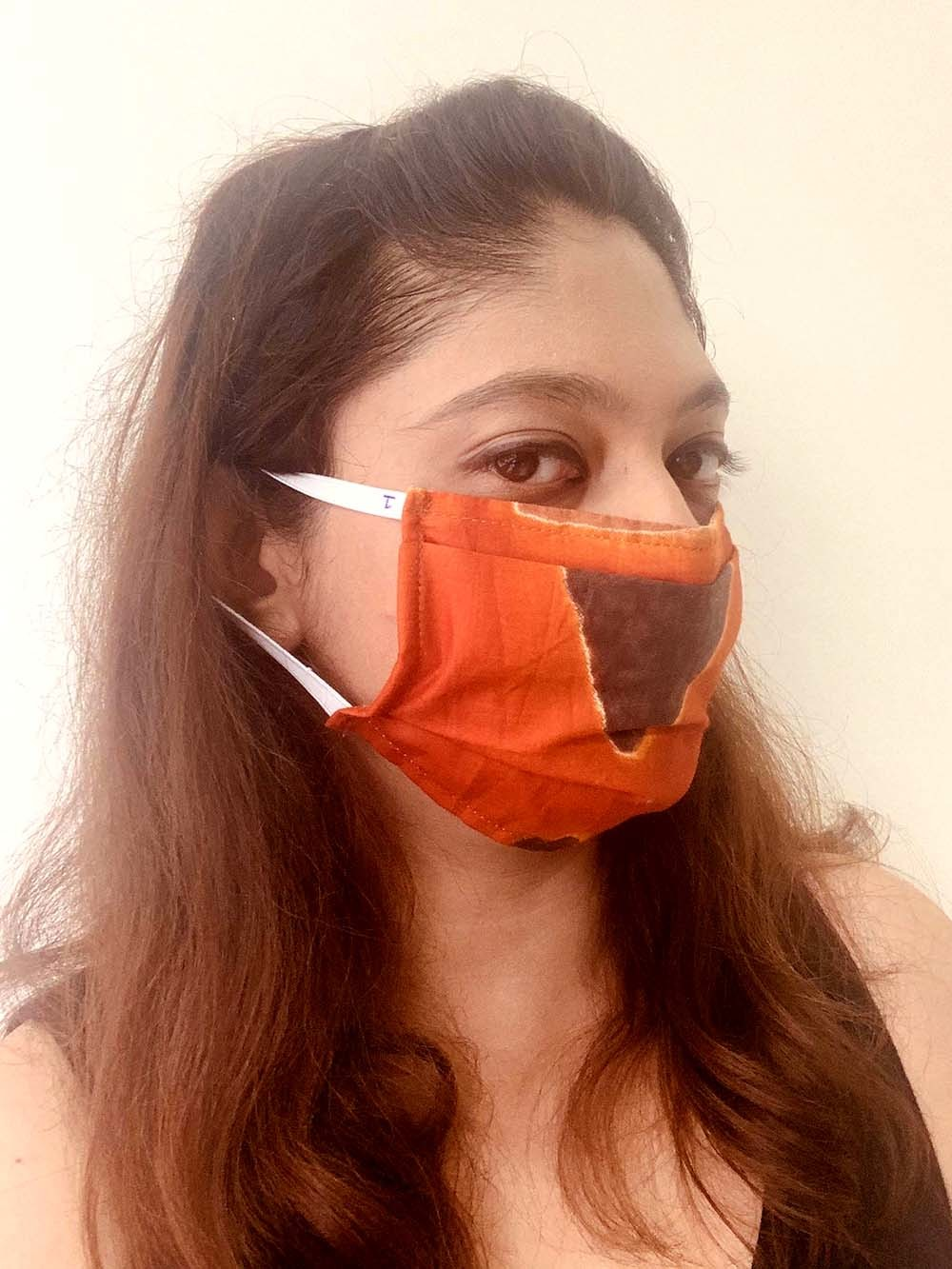 Reusable Cotton Full Face Mask With Adjustable Ear Loop And Filter Pocket